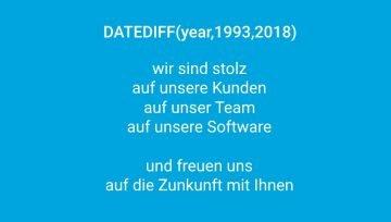 SAmAs wird 25 DATEDIFF(year,1993,2018)
